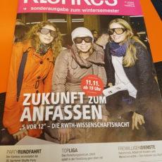 Artikel im Klenkes – Sonderausgabe zum Wintersemester 2016/17