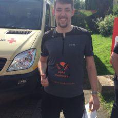 Teammitglied Dominik Peters läuft Monschau Marathon